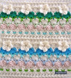 ergahandmade: Crochet Flower Shell stitch + Diagrams + Free Pattern Step By Step