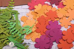 3D üdvözlőkártya, őszi virágokkal - 663578 Paper Crafts, Scrapbook, Blog, Jewelry, Jewlery, Tissue Paper Crafts, Bijoux, Paper Craft Work, Schmuck