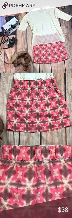 J.Crew Wednesday Skirt Tie Dyed Silk Linen Mini  0 J.Crew Wednesday Skirt Tie Dyed Silk Linen Mini Sz 0  This cute skirt is very versatile and adorable, with her tie dye butterfly. She is sold out.   Features: Brand: J.Crew Color: Coral Mocha Latte Pattern: Tie Dye Butterfly Size:  0 Size Type: Regular Material: 55% Silk 45% Linen Measurements laying flat: Waist (in): 13.5 to 18 Elastic Waist Hip (in): 20 Total Length (in): 16 Sorry No Trades PWS5.25Bin11.16 J. Crew Skirts Mini