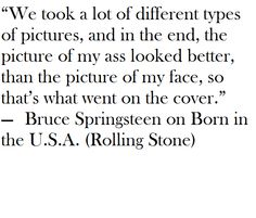 """Bruce Springsteen on choosing the cover shot for """"Born in the USA."""""""