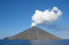 The Island of Stromboli Autor=Steven W. Dengler. the Tyrrhenian Sea, north of Sicily, the volcanic Aeolian Islands (Lipari, Vulcano, Salina, Panarea, Filicudi and Alicudi) northernmost member. The typical layer of the Earth's most active volcano, almost continuously operating vulcano..