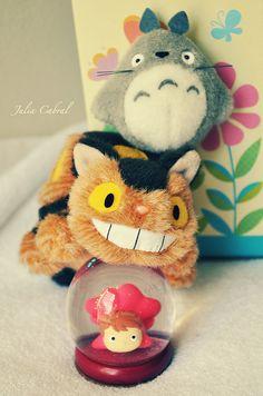 Totoro, Cat Bus & Ponyo