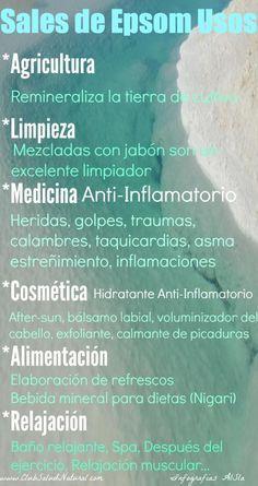 Usos de las Sales de Epsom - Club Salud Natural