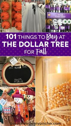 We have found a ton of Dollar Tree Fall items in stock this week – AND Dollar Tree Halloween decorations are also available. Check out what we found! Be sure to check out the Dollar Tree before heading somewhere else! Here are 101 items to buy at the Dollar Tree this Fall . . . Dollar Tree Halloween Decor, Dollar Tree Fall, Fall Decorations, Halloween Decorations, Autumn Activities, Budgeting Tips, Ways To Save, Money Saving Tips, Crafty