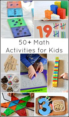 50+ math activities for kids (counting, addition, tally marks, fractions, & more!) - And Next Comes L for Fun at Home with Kids
