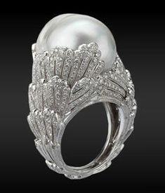 Diamonds and Pearl ring (Buccellati) Wow! Diamonds and Pearl ring (Buccellati) Pearl Jewelry, Jewelry Box, Jewelry Rings, Vintage Jewelry, Jewelry Accessories, Fine Jewelry, Jewelry Design, Unique Jewelry, Pearl Rings
