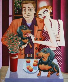 Dachshund Clube - Jonathan Knuttel Arte Dachshund, Scooby Doo, Ronald Mcdonald, Jigsaw Puzzles, Irish, Fictional Characters, Club, Irish Language, Puzzle Games