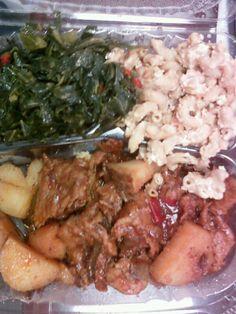 Vegan Ribs, Collards, Mac & Cheeze