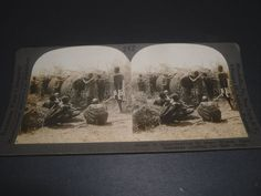 *STEREOVIEW House Building by Masai Women east Africa