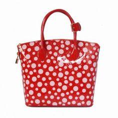M40600 Louis Vuitton Yayoi Kusama Lockit Red Louis Vuitton Damen Taschen