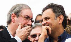 O intrigante silêncio de Aécio sobre o aliado Cunha