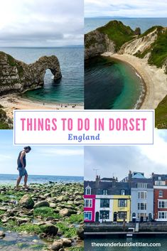 Here's a guide of things to do in Dorset and our favorite places to visit in Dorset England. We love the rich history and outdoor grandeur of this area! *************************************** things to do in Dorset, Places to visit in Dorset England #england #dorset #durdledoor #lulworthcove #weymouthharbor #isleofportland