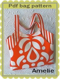 Amelie tote  bag pattern pattern for a roomy tote bag por GetaGrama