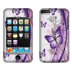 Act now & Save. Find Most Complete #Apple iPod Touch 2 (2nd Generation) iPod Touch 3 (3rd Generation) Hard Cover Case - 2 Tone Purple Butterfly 2D Silver Texture with Free Shipping in The US. ONLY $7.99 from #Acetag