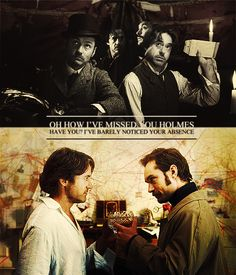 """Holmes and Watson (Robert Downey Jr., Jude Law) from """"Sherlock Holmes: A Game of Shadows"""""""