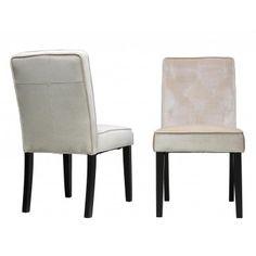 Cortesi Home Dining Chair in Soft Cream Velvet Fabric
