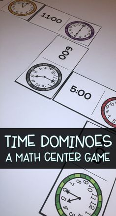 Fun math center game to practice telling time to the hour, half hour, and quarter hour Classroom Activities, Learning Activities, Kids Learning, Teaching Ideas, Science Resources, Teacher Resources, Reading Tutoring, Primary Maths, First Grade Math