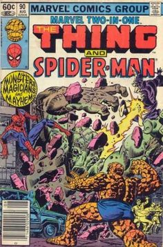 1df0657a45d648 Vintage Marvel Two-In-One The Thing and Spider-Man Marvel Comics Antique  Alchemy