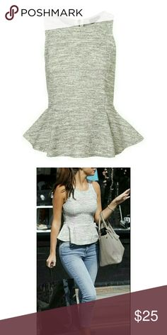 Topshop boucle peplum top. Size 2 Like new, worn once. Zips up in back. Size 2 Topshop Tops