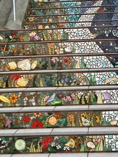 San Francisco - Mosaic Stairs to Grand View Park
