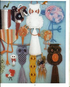 Macrame is For The Birds: Macrame Pattern Book PD-1054.  Owls are big statement again. My granddaughter likes them
