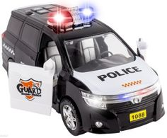WolVol Action Police Car Toy with Flashing Lights, Horn and Sirens.