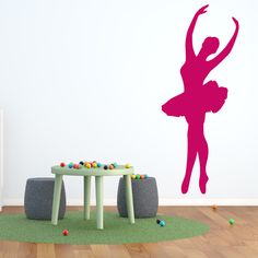 Style and Apply Ballet Mural Wall Decal ( 8in x 19in)