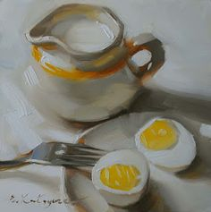 The eggs are gorgeous in this painting!
