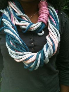 French knitting shawl