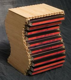 I designed this CD rack for my students. It's made entirely from popsicle sticks. You will need a special 15 mm thick stick if you wish to make one. After the first design for my students I d… Popsicle Stick Crafts For Adults, Popsicle Stick Art, Popsicle Crafts, Craft Stick Projects, Craft Stick Crafts, Diy Arts And Crafts, Diy Projects, Craft Sticks, Craft Ideas