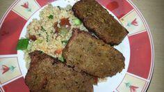 Bulgur Salat u Seitan Steak