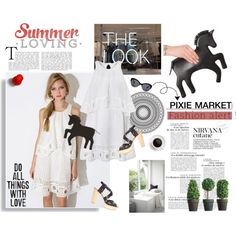 #pixiemarket  Summer Style with Pixie-Market! by minojka on Polyvore featuring My Little Pony, White Label, pixiemarket and summer2015