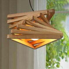 Diseño creativo espiral de luz colgante de madera clara burlywood salón comedor lámparas colgantes de madera rústica accesorio de iluminación de la sala de estar