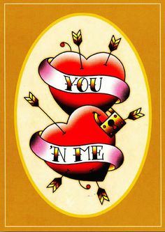 Angelique Houtkamp Greeting Card - You N' Me Dash Image, Rat Tattoo, Traditional Tattoo Art, Sailor Jerry, Tattoo Flash Art, Love Tattoos, Love Messages, My Images, You And I