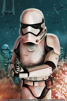 Star Wars: The Force Awakens - First Order Stormtrooper Sith, Best Sci Fi Films, Stormtroopers, Stormtrooper Art, Starwars, Star Wars Vii, Star Trek, Star Wars Canon, Fanart