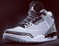 Air Jordan 3 Retro Wolf Grey (New Picture)
