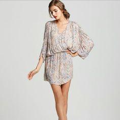 Parker Pink Silk Dolman Sleeve Dress