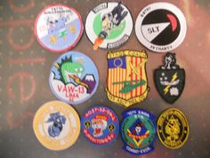 10 DIFF MILITARY PATCHES-LOT 12