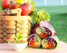 Raw Rainbow Wraps