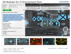 3D Modular Sci-Fi Environment Pack on Unity Asset Store