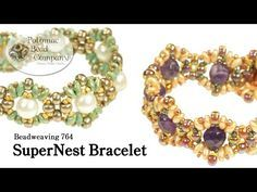 ▶ Beadweaving - SuperNest Bracelet - YouTube