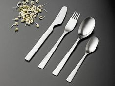 Stelton Tiki  Tiki, created in 1974 by Tias Eckhoff, is a timeless cutlery-pattern. It contrasts dramatically between angular and rounded shapes. Tiki was chosen by airlines as business class cutlery for aircraft. Tiki's combination of a firm grip for most people and being manoeuvrable means that it is a great tool for culinary delights. This cutlery pattern is a perfect choice for great design at an affordable price.