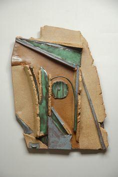 Verdant Edge: Glazed stoneware wall piece by Joe Szutz Pet Urns, Porcelain Clay, Wall Decor, Wall Art, Glazed Ceramic, Pottery Vase, Contemporary Artists, Stoneware, Sculpture