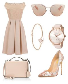 """""""Beautiful full nude outfit"""" by milanedmonds-1 on Polyvore featuring Little Mistress, Mark Cross, Christian Dior, Ted Baker and David Yurman"""