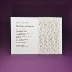 Modern Daisy Wrap A7 Invite - Offset Printed