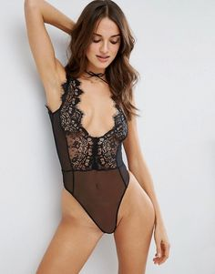 6cdbece4b07 Sidney Eyelash Lace Plunge bodysuit