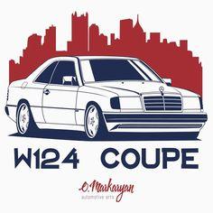 Mercedes Benz W124 Coupe | Unisex T-Shirt