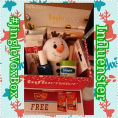 My #JingleVoxBox i recieved complimentary from #Influenster is so fun. It has soemthing for everyone in the family!! #OreIda #free tot coupon. #Cheerphill moisturizer cream. #MyBiscoffBreak Biscoff coffee cookies! (Amazing & taste like gingerbread). Olaf #ittybittys from #halmark . 24hr eyeliner from #CityProofNYC #KissLashes & adhesive. #PureIce blue nail polish.. All great items so far with positive reviews!!!