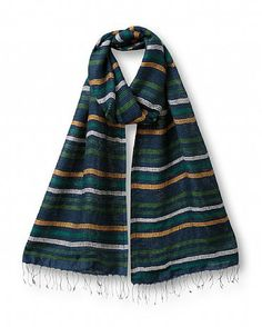 Silk Stripe Scarf