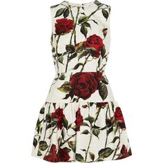 Dolce & Gabbana Floral-print cotton-blend brocade mini dress